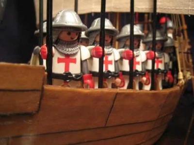Medieval Crusader Ship: Hand Made
