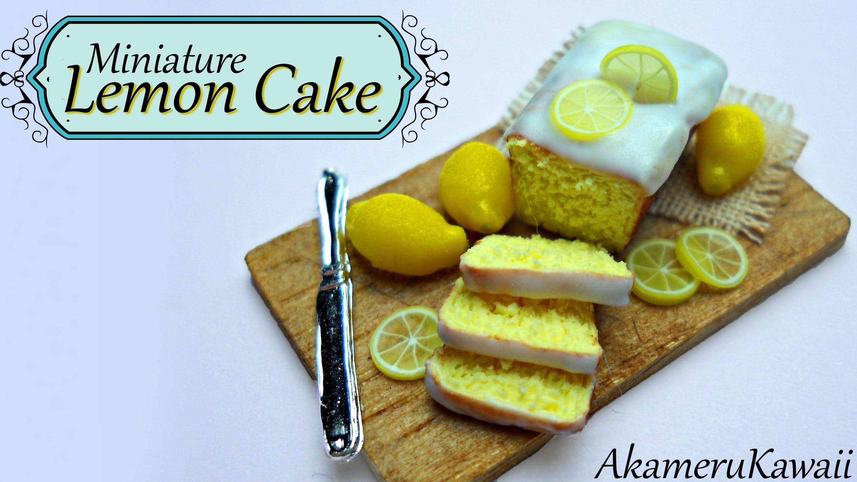 Miniature Lemon Cake and whole lemons - Polymer Clay tutorial