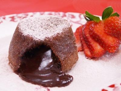 Molten Chocolate Cakes Recipe: Chocolate Lava Cake Recipe: How To: Di Kometa-Dishin' With Di  #131