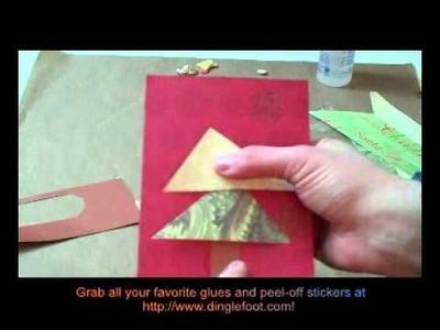 Retro Christmas Tree Handmade Card