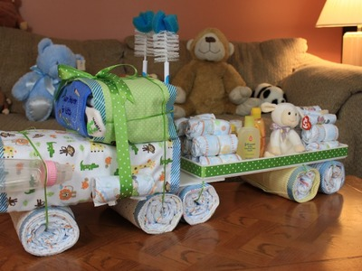 Semi Truck Diaper Cake (How To Make)
