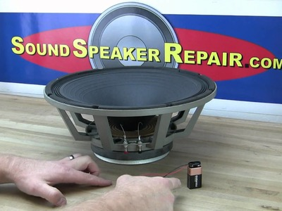 Testing a speaker with a 9 volt battery