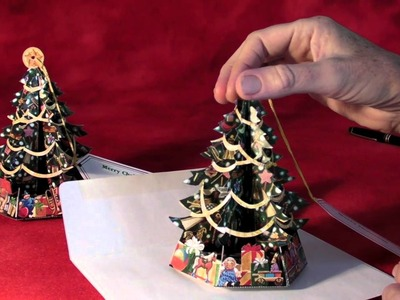 Traditional Pop-Up Christmas Tree Greeting Cards!