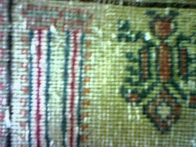 Unique Sun Fading on Wool Rug by Luv-A-Rug