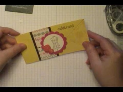 "10 Minute Tuesday Video:  Stampin' Up! Sew Suite ""V"" Latch Card"