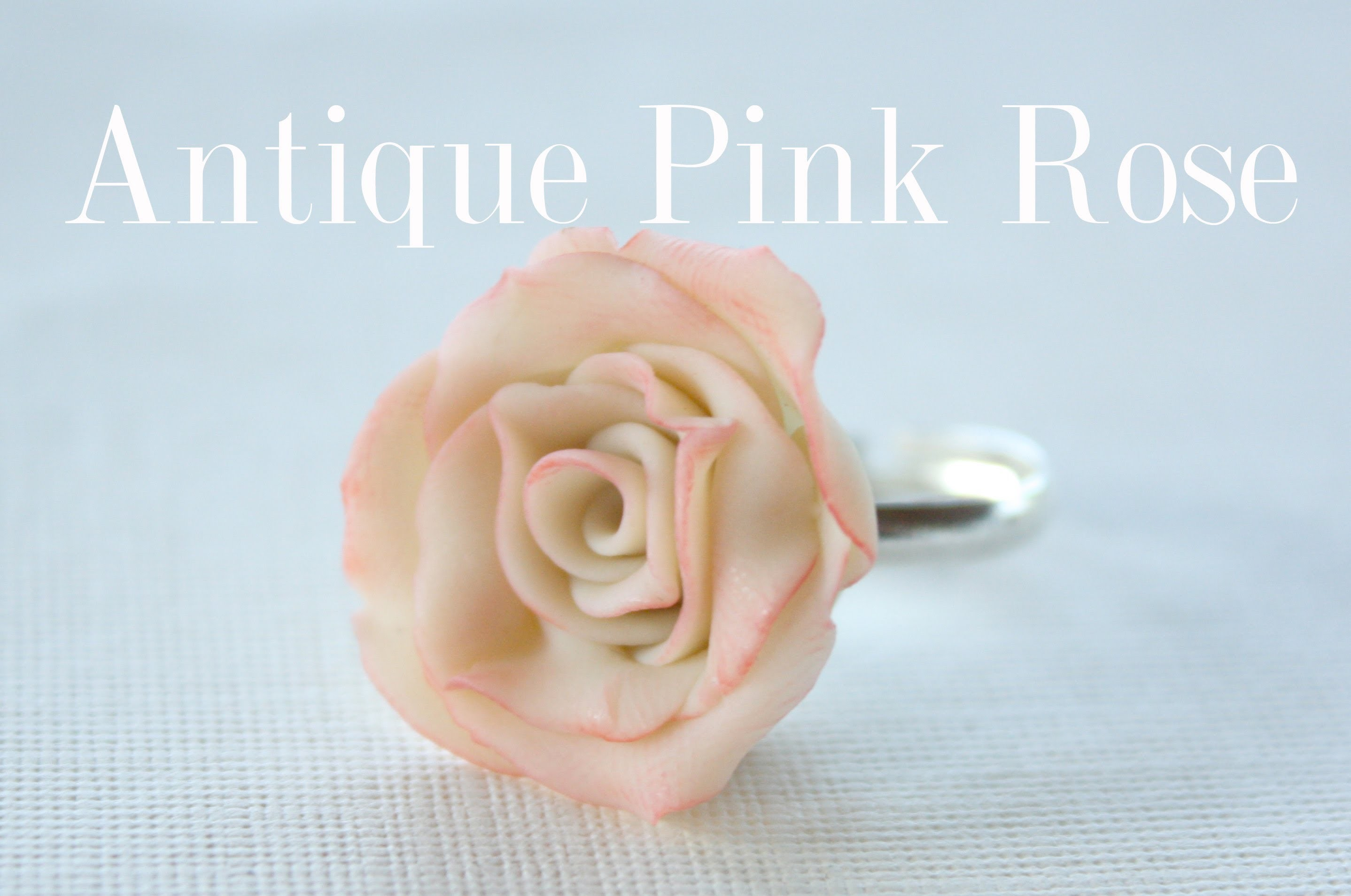 Antique Pink Rose Ring - Polymer Clay Flower Tutorial