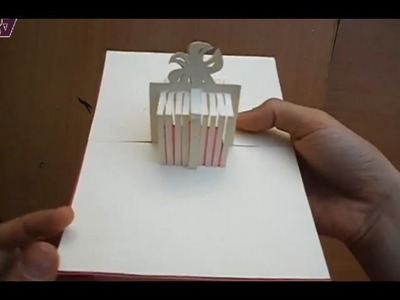 Birthday Present, Gift Box Pop Up Greeting Card Tutorial