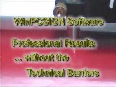 Cut a sign using a vinyl cutter and WinPCSIGN software