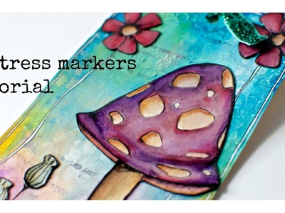 Distress Markers tutorial with my sketch