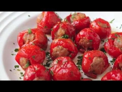 Food Wishes Recipes - Sausage Cherry Pepper Poppers Recipe - Stuffed Cherry Pepper Poppers