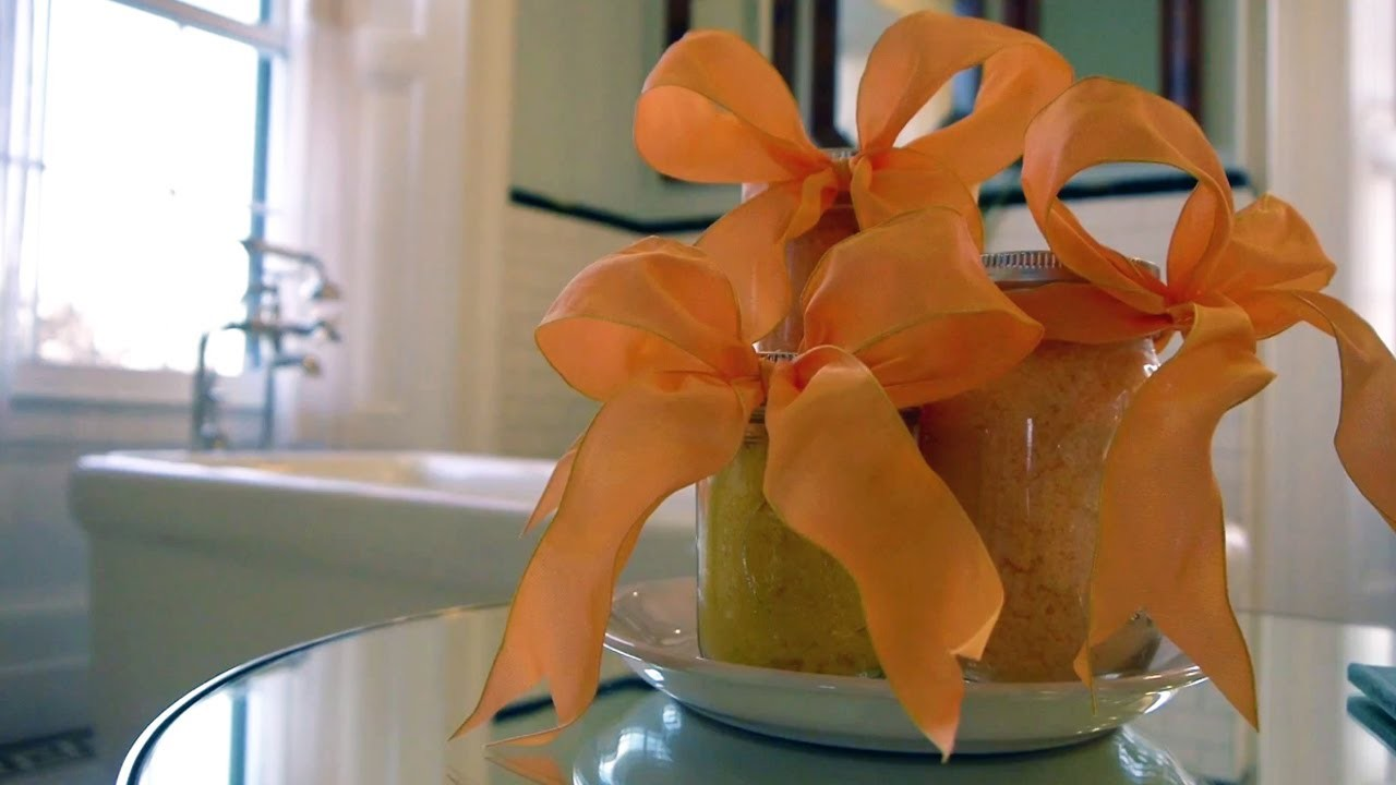 Homemade Gifts: Body Scrub and Bath Salts   At Home With P. Allen Smith