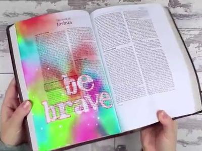 How to Blend Distress Ink - Week 1 Bible Art Journaling Challenge