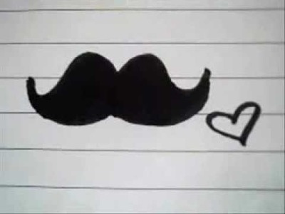 How to draw: Mustache