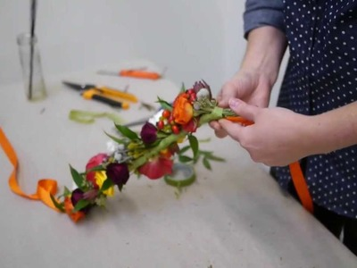 How To Make A Beautiful Flower Crown | Real Flowers