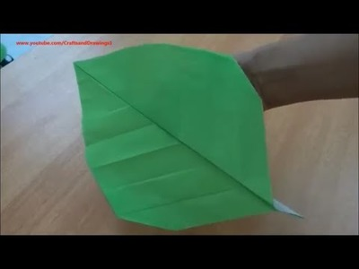 How to make a paper leaf easily