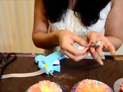 How to make CD flower decor with waste CDs