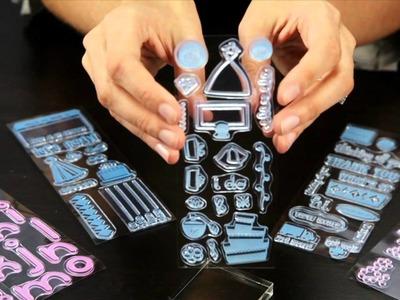 KI Memories - Clear Acrylic Stamp Set with Stamp Block