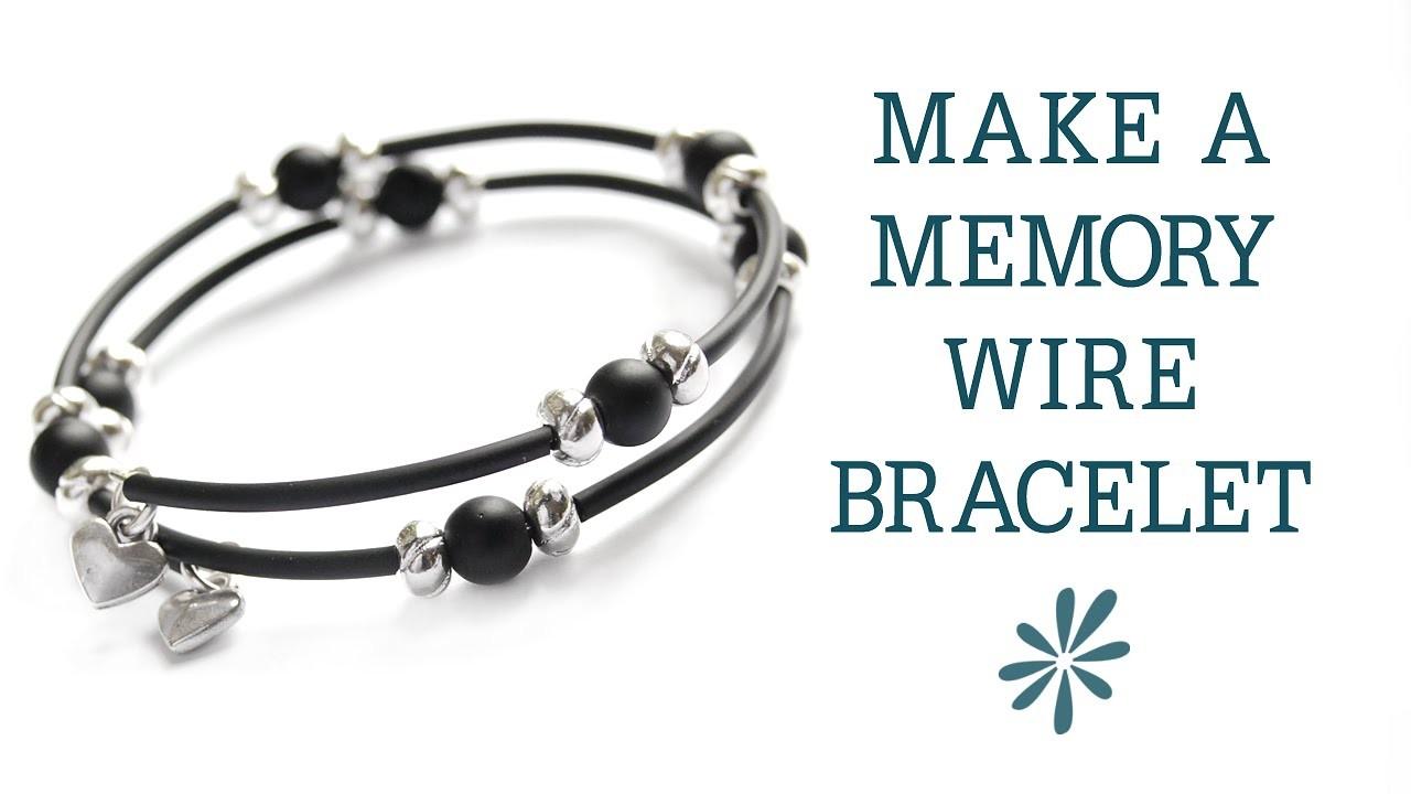 Memory wire bracelet - beginner's jewelry-making project