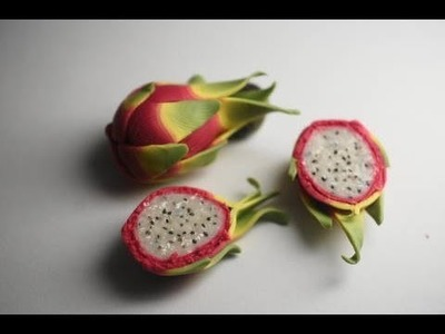 Miniature Dragon Fruit Tutorial Part 2, Polymer Clay Food