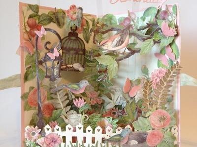 New fun and easy G45 Botanical Tea 3D garden card - Tutorial Card base