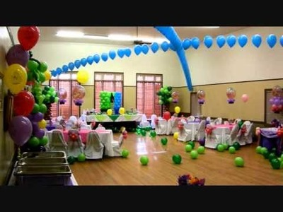 Rapuzel Theme Birthday Party Decor.wmv