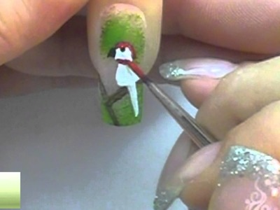 Request: How to paint a parrot. Papagei NailArt Tutorial