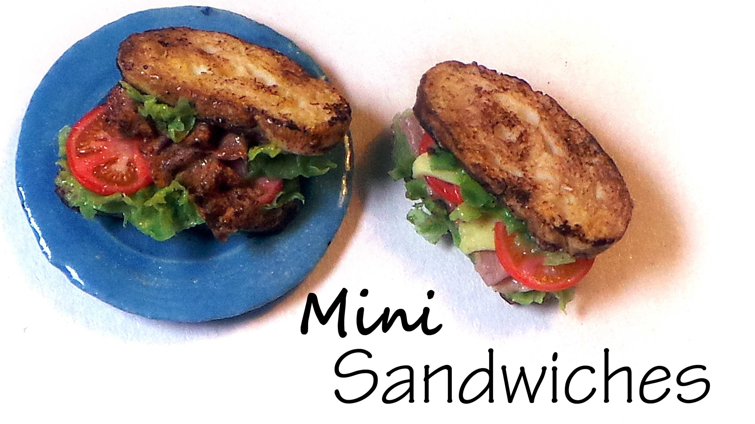 Simple B.L.T And Ham & Cheese Sandwich - Polymer Clay Tutorial