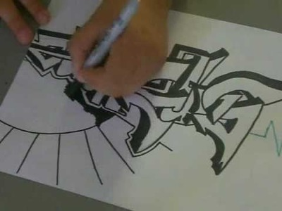 Tagging graffiti on paper