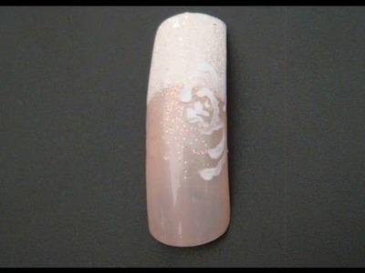 Wedding manicure. nail design