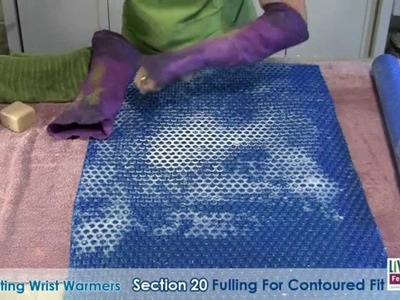 Wet Felting Wrist Warmers Part 2 - Free Tutorial