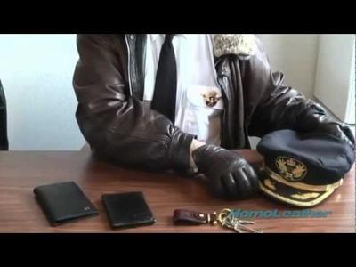 Aviator Leather Jacket and Accessories. Cazadora de cuero de aviador y accesorios