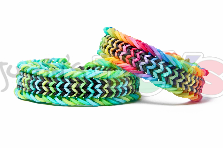 Fishtail Sandwich Rainbow Loom Bracelet Tutorial - Advanced