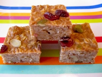 Healthy Breakfast Recipes: How to Make Oatmeal Bars On-The-Go - Weelicious