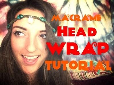 Hippy Crystal. Stone Macrame Head Wrap. Band Tutorial