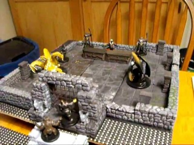 How to Build 3D D&D Dungeons Using Masonite Boards and Drawer Liner