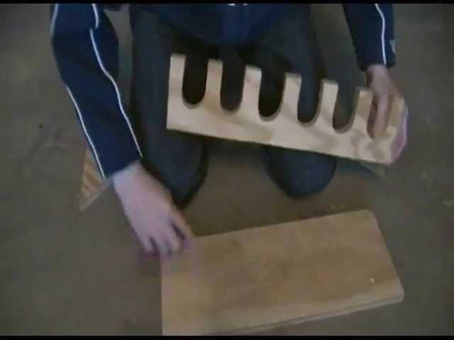 How to Build a Baseball Bat Rack