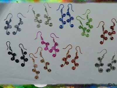 How to Construct Wire Earrings with Multiple Spirals