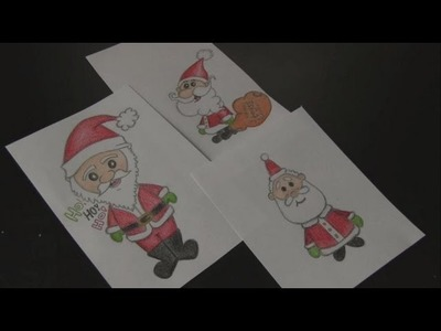 How to Draw: 3 SANTA CLAUS Doodles