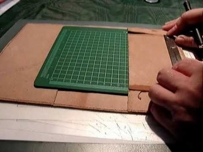 How to make a custom leather cover for your Barnes and Noble NOOK. Part 1