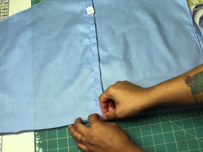 How to make a Half Apron from a Men's Shirt- a GIVEAWAY!