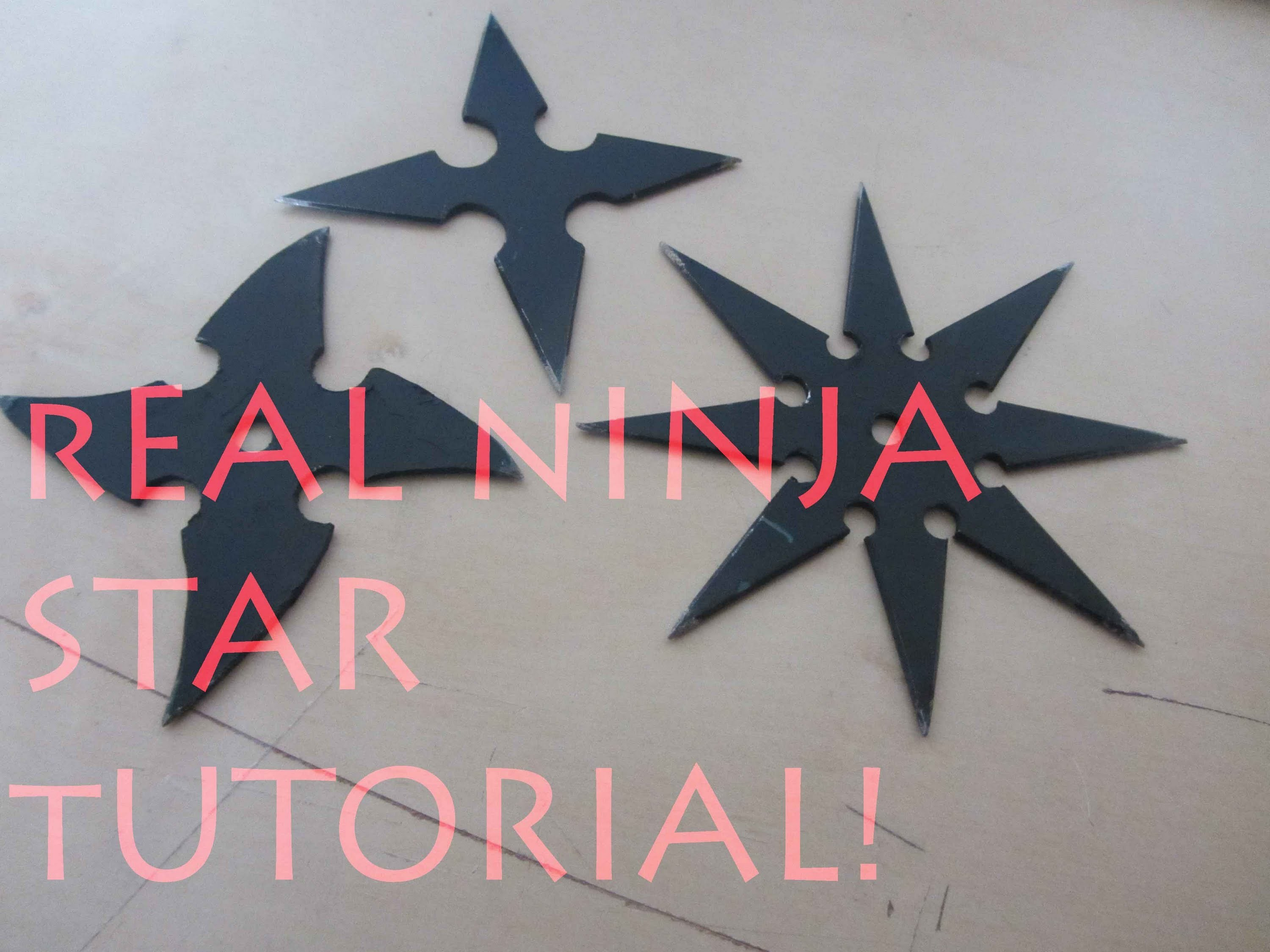 How To Make a Real Ninja Star. Shuriken - The Art Of Weapons