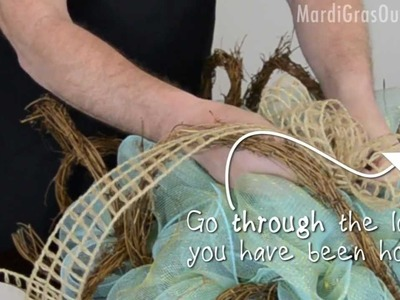 How to Make a Spring Twig-Works Wreath with Deco Mesh