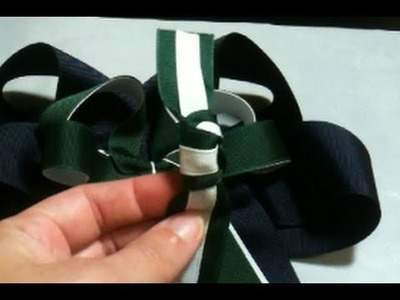 How to Make a Two Color Center Knot for a Hair Bow