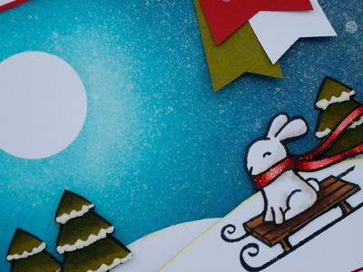 How to make a winter themed card