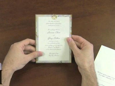 How To Make an Ornate Layered Pocket Card Invitation