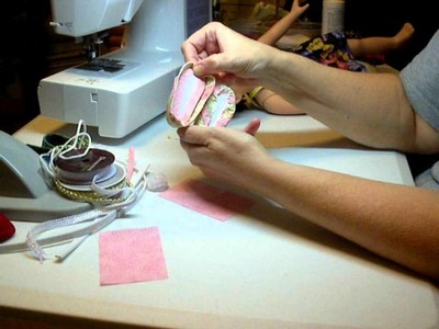How to Make Doll Shoes Finishing Pumps