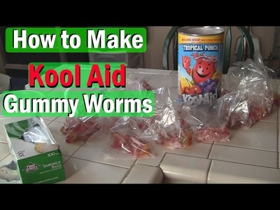 How to Make Gummy Worms with Kool Aid !