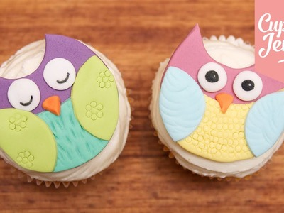How to make super-cute Owl Cupcakes | Cupcake Jemma