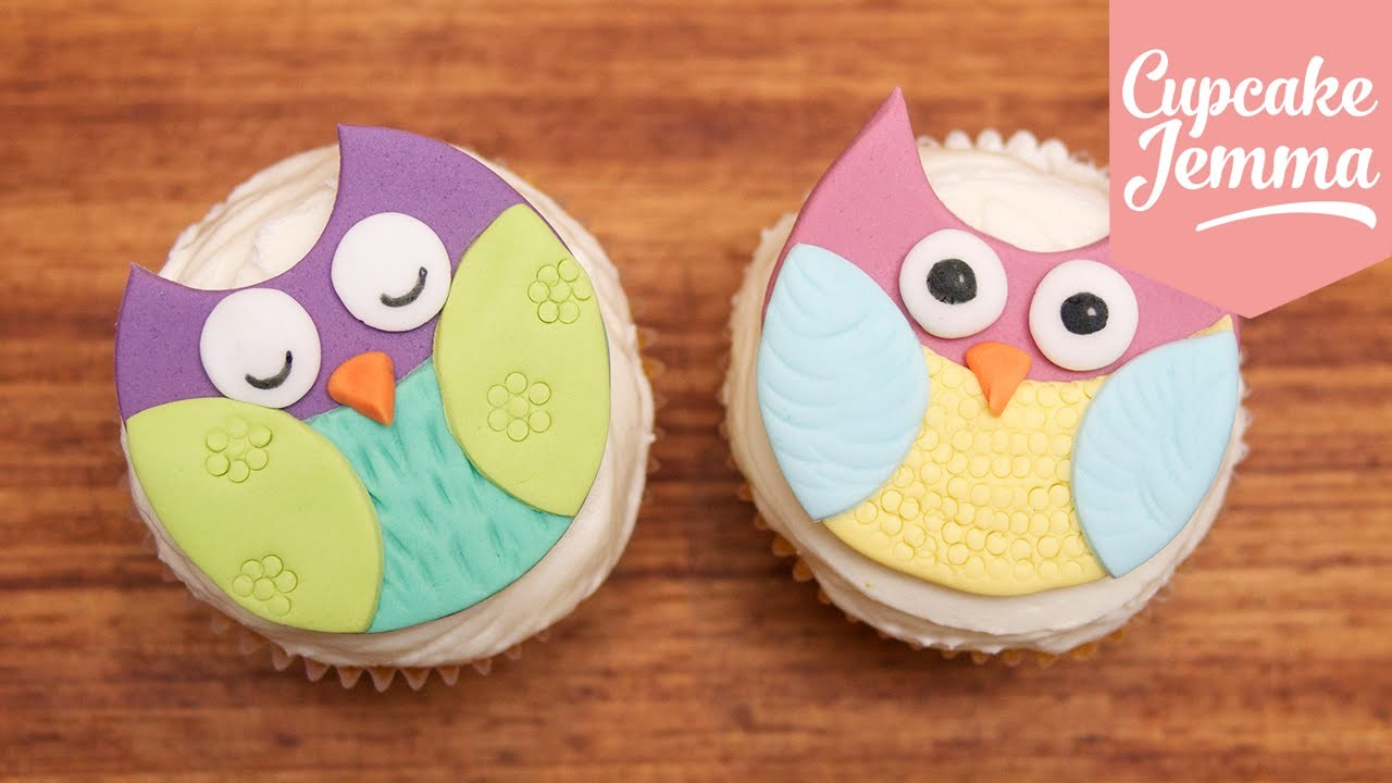 How to make super-cute Owl Cupcakes | Cupcake Jemma