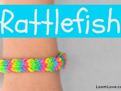 How to Make the Rainbow Loom Rattlefish on Monster Tail